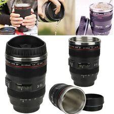 Thermal Coffee Cup Camera Lens de thé eau Liner Voyage Tasse 24-105mm Stainles