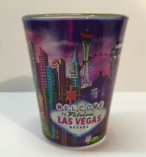 Las Vegas Sign Hotels Casino Shot Glass Shotglass Whiskey High Roller Caesars