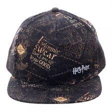 HARRY POTTER I SOLEMNLY SWEAR THAT I AM UP TO NO GOOD BLACK SNAPBACK HAT CAP NWT