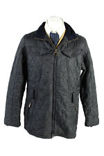 Vintage Barbour Quilted Mens Coat Jacket Lined Outerwear Size 20 Navy - C1871