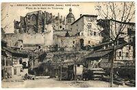 CPA 38 Isère Abbaye de Saint-Antoine Place de la Gare du Tramway