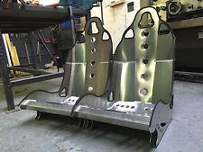 Aluminium Bucket Seat (Small style Alt) Pair - Kit Car, Locost, Westfield, Mini.