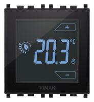 VIMAR 02950 TERMOSTATO TOUCH 2 MODULI 230V DA INCASSO NERO ILL. LED RGB