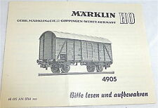 4905 manuel MÄRKLIN 68 495 à 0764 Ma