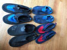 4 X Enfants Plage Chaussures Natation Job Lot Taille 12 C & 3