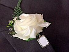 WEDDING, GROOM, buttonhole PHOTO FRAME MEMORY CHARM, BOUQUET MEMORY CHARM