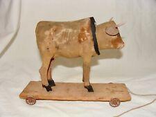 Antique Nodding Cow Pull Toy