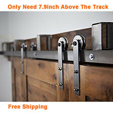 Marvelous 5 16ft Rustic Bypass Sliding Barn Wood Door Hardware Closet Roller Track  Kit 16 FT