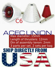 U.S. SELLER - Metal Detail-Up RED Luxury Thruster Set C6 For 1/100 MG Gundam