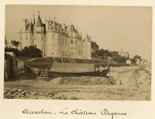 France, Arcachon, Le Château Deganne  Vintage albumen print.  Tirage albuminé