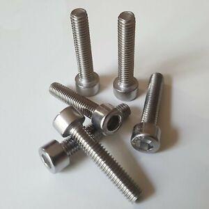 M6 (6mm) x 30mm Socket Cap Screw Allen Hex Bolts High Strength  A2 - Pack Of 6