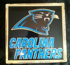 Lighted Carolina Panthers Glass Block Light~ Home Decor~Gift~Lamp