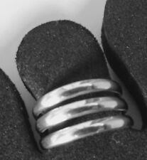 Silver Toe Ring Sterling 925 Adjustable Multiple Plain Solid Band Beach womens