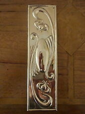 10 BRASS ART NOUVEAU FINGER DOOR PUSH PLATES FINGERPLATE