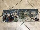 Lot# 2006. Vintage Christmas Scene Tapestry