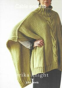 Cable Poncho Knitting Pattern by Erika Knight for John Lewis, Chunky