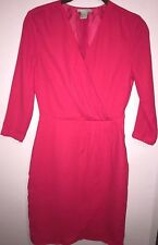 H&M Women's Girls Pink Elegant Evening Night Classy Cocktail Casual Dress Size 2