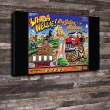 """Whoa Nellie pinball verre Toile imprimée A1.30""""x20 """"Deep 30 mm cadre MANCAVE"""