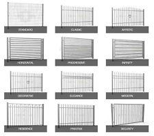 Stahlzaun inkl. Pfosten| Zaunfeld | verschiedene Modelle (Preis pro Meter)