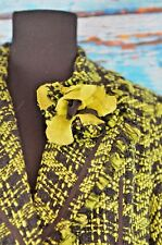 True Meaning Women's Blazer Size Large Career Single Button Colorful Boho Check