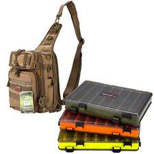 Fishing Tackle Bag Pack Shoulder Waist Waterproof Box Reel Lure Gears Storage