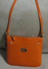 e43cdfe9a5 NWT RALPH LAUREN Small Orange Leather Messenger Crossbody Sling Shoulder Bag
