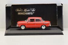 NSU 1000 L 1964 RED MINICHAMPS 1/43 NEUF EN BOITE