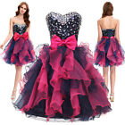 Stock Short Ball Gown Prom Formal Evening Party Strapless Cocktail Dress Sz 6-20