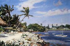 John Stobart Print - Ocean Reef, Key Largo