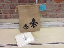 Fleur de Lis Stationery/Jute Bag Set