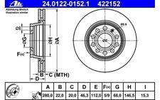ATE Juego de 2 discos freno Antes 280mm ventilado para SEAT EXEO 24.0122-0152.1