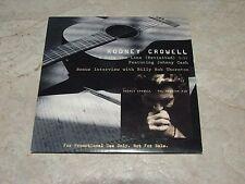 Rodney Crowell I Walk the Line feat.Johnny Cash PROMO Billy Bob Thornton rare cd