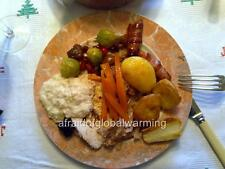 Old Photo. United Kingdom. Christmas Lunch Pigs In A Blanket, Roast Potatoes etc