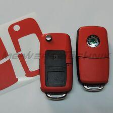 2S_Schlüssel-Dekor Aufkleber Skoda Fabia Oktavia Superb RS Roomster rot matt