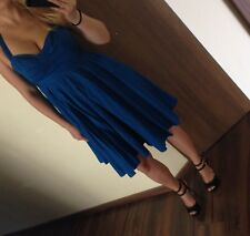 FCUK French Connection Halter dress size 4 Cobalt Blue Retailed at $158