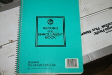Mead Spiral 'Record and Enrollment Book' 60 pages