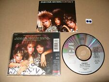 POINTER SISTERS  CONTACT 9 TRACK cd 1985-JAPAN cd Excellent