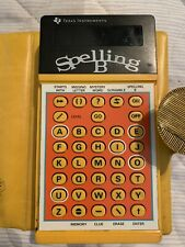 Vintage 1978 SPELLING B Texas Instruments Handheld Electronic Game Case & Book