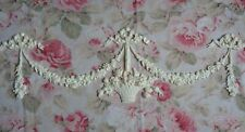 New! Shabby Chic Floral Basket Swags Drops Bows Set Furniture Applique Pediment