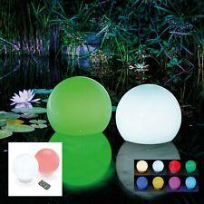 4x 20cm LED Solar Leuchtkugel Fernbedienung Teich Garten Kugel Gartenteich Lampe
