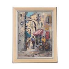 Vintage Original Expressionist Oil/Canvas-Signed-Framed