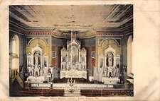 Saint Marys Pennsylvania Church Interior Antique Postcard K50636