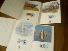 4   WWF     BRIEFMARKEN     Grusskarten    Spendenkarten  von   1987