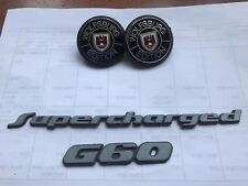 Genuine Vw Wolfsburg Edition Badge G60 Supercharged Golf Mk1 Mk2 GTI G60 VR6