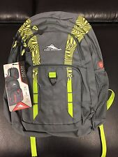 High Sierra Paxton Backpack-Electric Green-Tablet Sleeve-Large Capacity-NEW