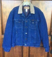 Vtg Wrangler Authentic Western Trucker Jaket Blanket Lined USA Sz 44