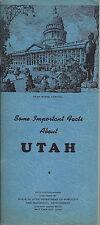 1948 Vintage Utah State Information & Facts Brochure