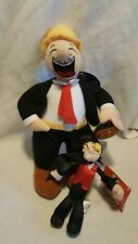 Popeye the Sailor Man set of 2 plush stuffed animals small medium Sugar Loaf
