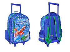 PLANES TROLLEY School Bag Backpack on wheels wheeled bag knapsack schoolbag