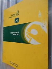 John Deere 220 Center Fold Power Flex Disk Operator's Manual Genuine Om-A37725
